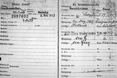 NSDAP-Mitgliederkartei des CDU-Ministerpräsidenten Franz-Josef Röder vom 1. August 1933