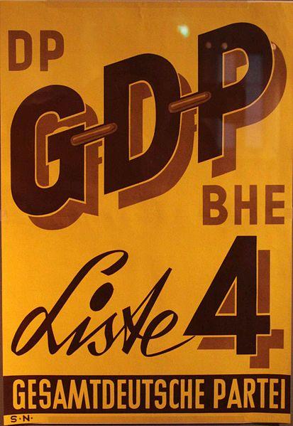 GDP-Wahlplakat aus den 1950er-Jahren