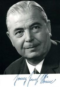 Ministerpräsident Franz-Josef Röder (CDU)