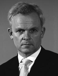 Bundesminister Ewald Bucher (FDP)