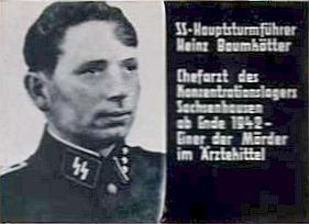 Chefarzt im KZ Sachsenhausen, Dr. Heinz Baumkötter