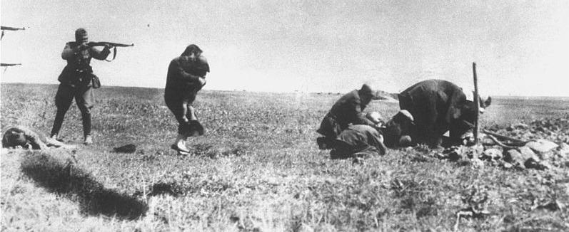 Deutsche Polizeieinheit im Einsatz: Erschießen von Juden in Ivangorod 1942u