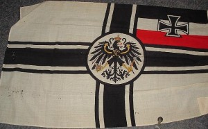 Reichskriegsflagge des Kaiserreichs 1910 mit dem preußischen Adler