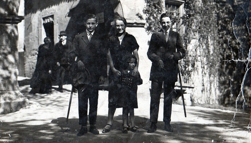 Jüdische Familie Lehmann am Burgtor in den 1910er/20er-Jahren