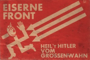 """Plakat der """"Eisernen Front"""" gegen Adolf Hitler"""