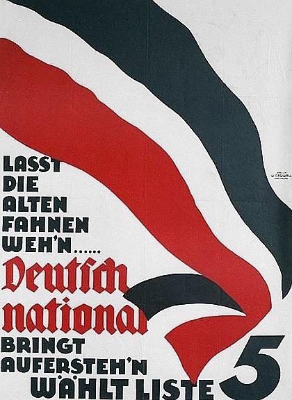 Wahlplakat der Deutschnationalen Volkspartei (DNVP)