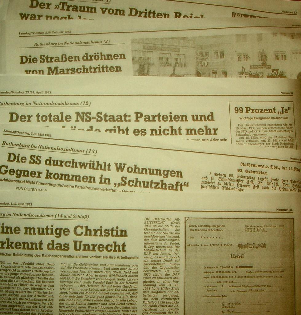 """14 Folgen hatte die Serie von Dieter Balb im """"Fränkischen Anzeiger"""" 1983"""