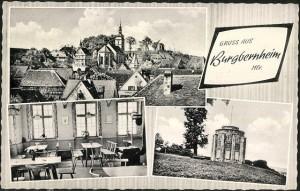 """Postkarte """"Zum Hirschen"""" um 1955"""