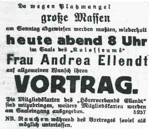 """Anzeige in der """"Kitzinger Zeitung"""" vom 6. September 1922"""