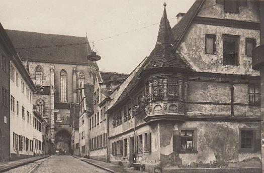 Feuerleinserker in der Klingengasse mit der Jakobskirche im Hintergrund
