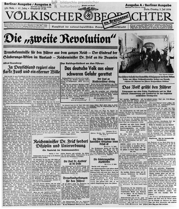"""""""Die zweite Revolution"""", Rechtfertigung der """"Säuberungsaktion"""""""