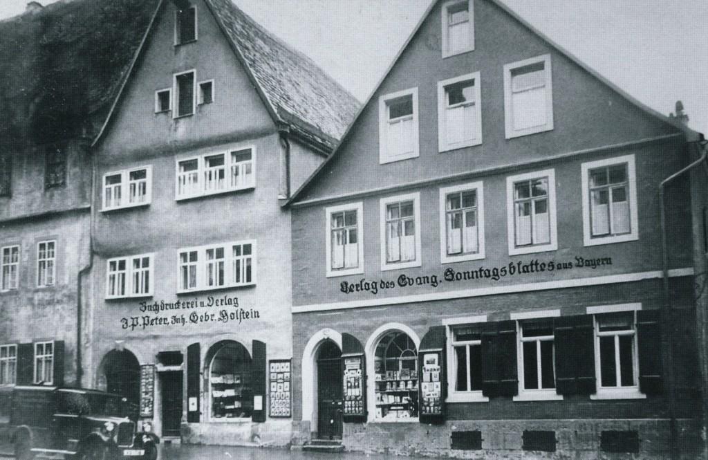 Die Verlags- und Druckereigebäude des Holstein-Verlags in der Hernngasse