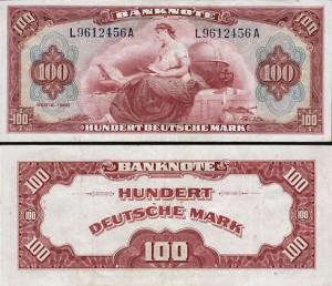 Der neue 100 DM-Schein 1948
