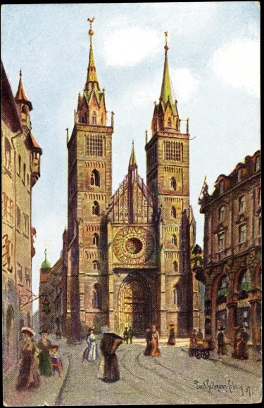 In der Nürnberger Lorenzkirche weihte Weigel SA-Standarten