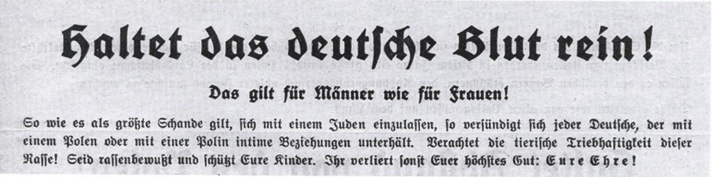 Ausriss aus einem Merkblatt für Zwangsarbeiter