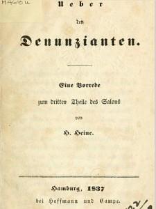 Ttitel der Heine-Schrift von