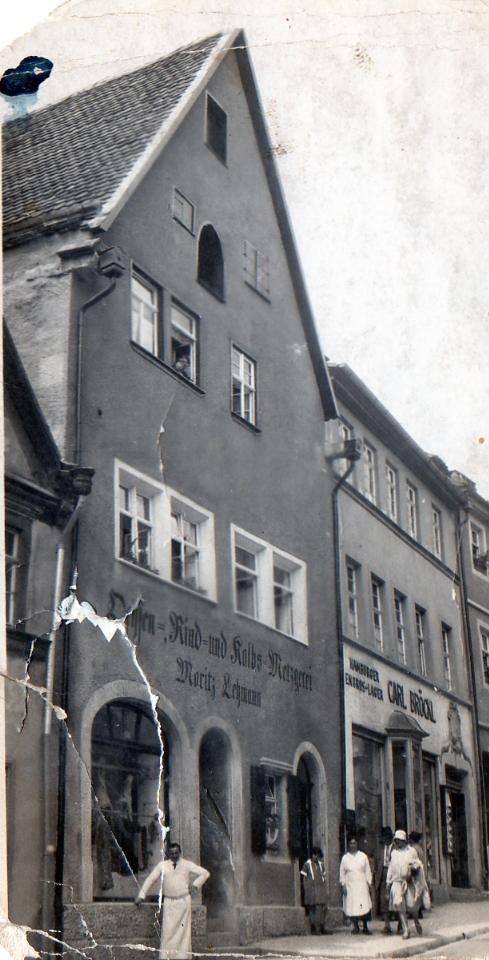 """Später """"arisiertes"""" Haus und Geschäft Lehmann in Rothenburg"""