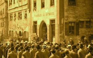 """Später """"arisiertes"""" Haus der jüdischen Familie Straß"""