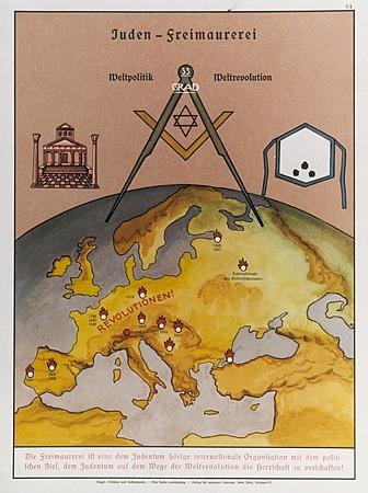 Hetzplakat der Nationalsozialisten gegen das Freimaurertum 1935