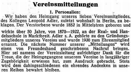 Israelitische Bayerische Gemeindezeitung vom 15. September 1937