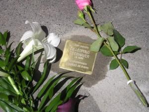 Stolperstein für das Opfer Leopold Obermayer in Würzburg