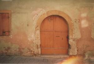 Tür des Hauses Nr.