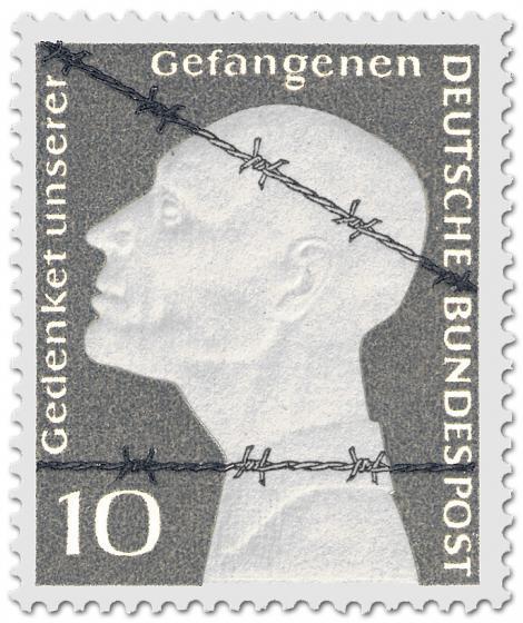 Briefmarke von 1953 erinnert an deutsche Kriegsgefangene