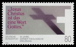 """Sonderbriefmarke 1984 zum Jahrestag der """"Theologischen Erklärung"""" Barmen"""