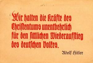 Hitler umgarnte die Gläubigen mit Sprüchen