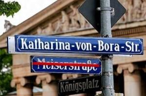 Die Meiserstraße wurde nach Luthers Frau umbenannt