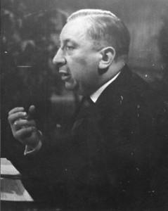 """Parteigründer Dr. Josef Müller (""""Ochsensepp"""")"""