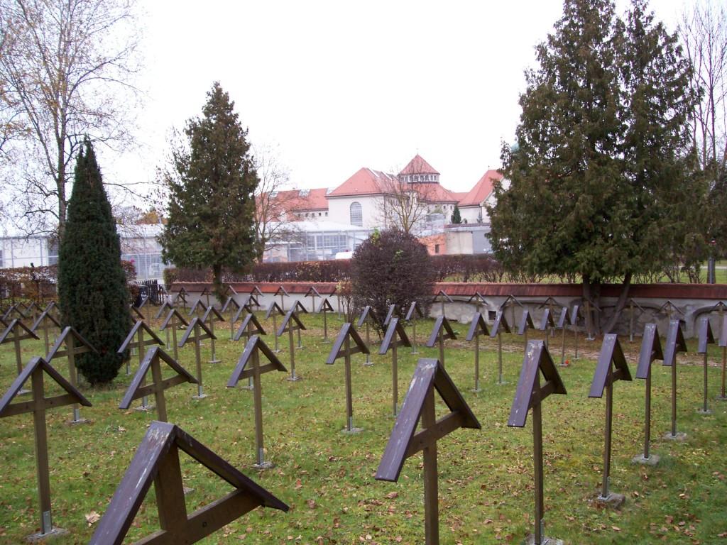 Kriegsverbrecher-Friedhof am Landsberger Gefängnis, auf dem dann auch Georg Sturm bestattet wurde; Foto: Wolf Stegemann