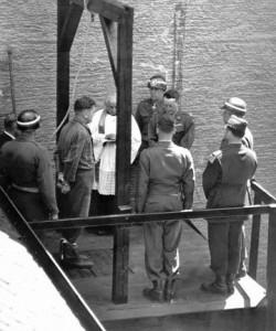 Hinrichtung in Landsberg. Die meisten Fliegermordtäter wurden dort gehängt.