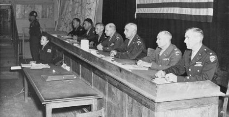 US-Militärgericht in Dachau 1947