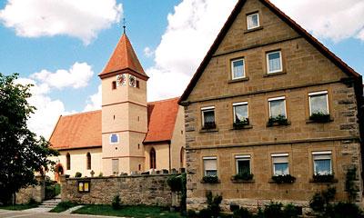 Kirche in Schweinsdorf heute