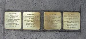 Stolperstein der Familien Wurzinger und Lißberger