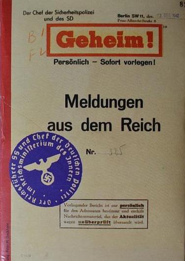 """Titelblatt """"Meldungen aus dem Reich"""" 19"""