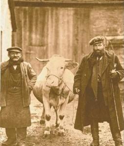 Viehhändler David Schönfärber und Landwirt Johann Betz in Aub, 1926